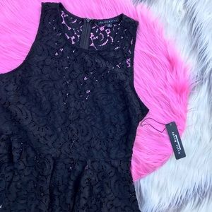 Nordstrom Black lace top